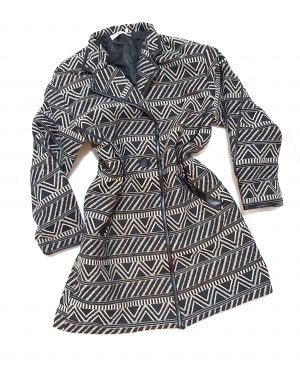 Aztec Print Winter Jacket Coats for Women
