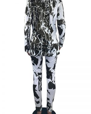 THE PATTERNED SET – JACKET AND PANTS TWO PIECE SET