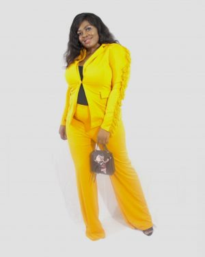 THE FEATHER ENVY SET – Blazer and Trousers for Women