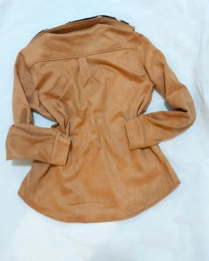 Brown Faux Suede Coat – Winter Jackets For Women