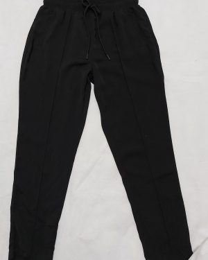 Black Tapered Straight Leg Work Womens Trousers
