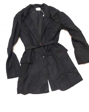 Womens Woven Jacket Lapel Coat Jacket