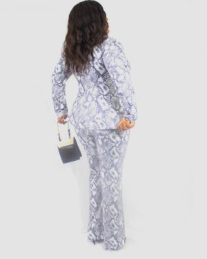 THE SNAKE SKIN SET – Blazer and Trousers for Women